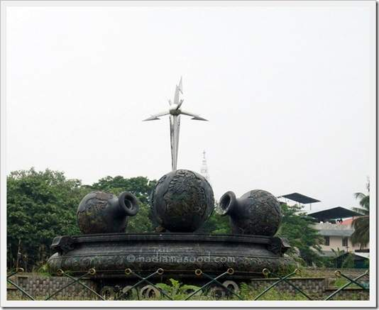 roundabout in Thrissur