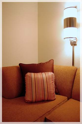 cushion cover with stripes