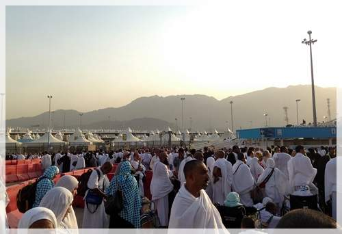heading to arafah from mina