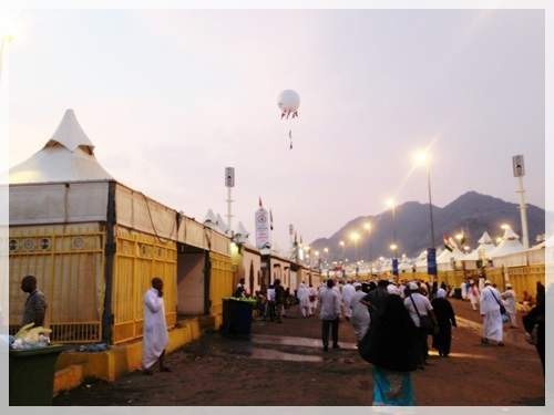Walking towards our tents. & Hajj Journal - Part 4 - Leaving Our Possessions Behind for Mina ...