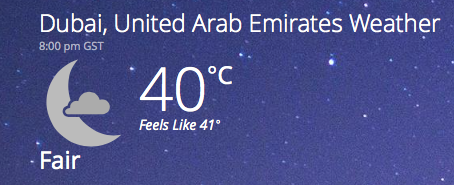 summer temperature in dubai