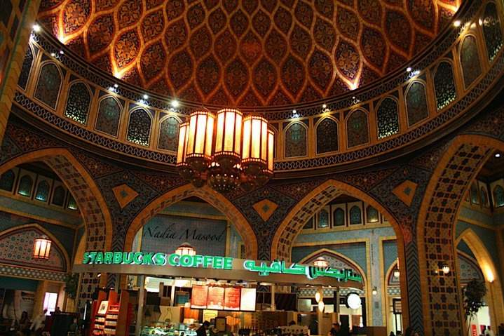 This beautifully hand-painted dome is a replica of the vaulted souks of old Persia. It is here where Ibn Battuta discovered a cultured and artistic society.