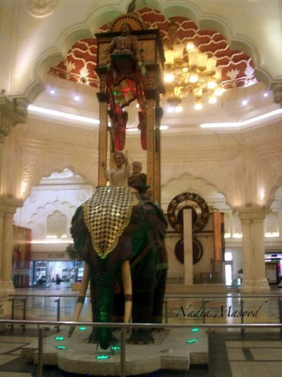 The elephant clock was a medieval Muslim invention by al-Jazari (1136–1206), consisting of a weight powered water clock in the form of an elephant. The various elements of the clock are in the housing on top of the elephant. They were designed to move and make a sound each half hour.