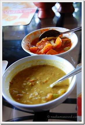 Dal and vegetable curry