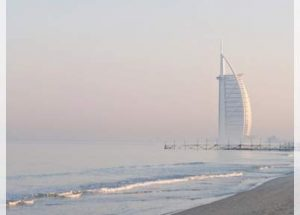 burj al arab by the sea