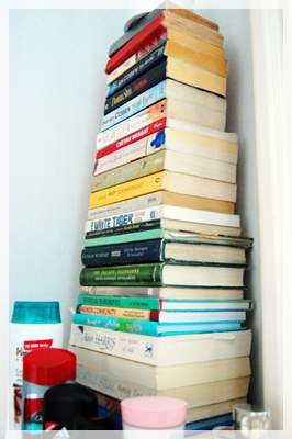 books on the dressing table