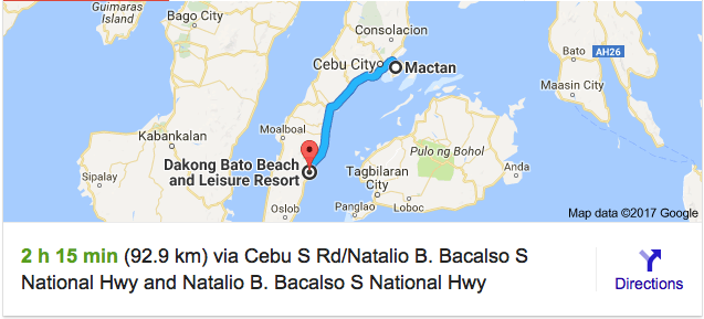 cebu to oslob by road