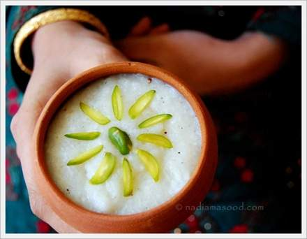 kheer in clay pot